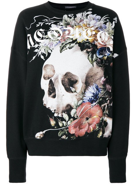 Alexander McQueen Floral Skull Sweatshirt - Farfetch