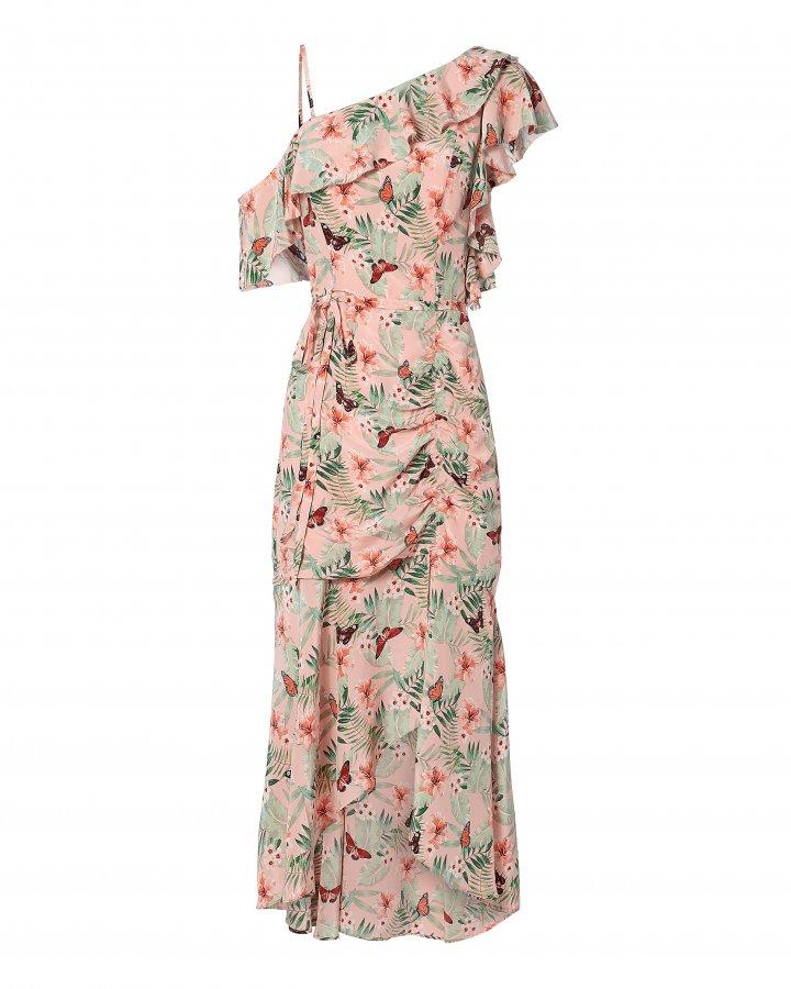 Jamima Ruched Midi Dress