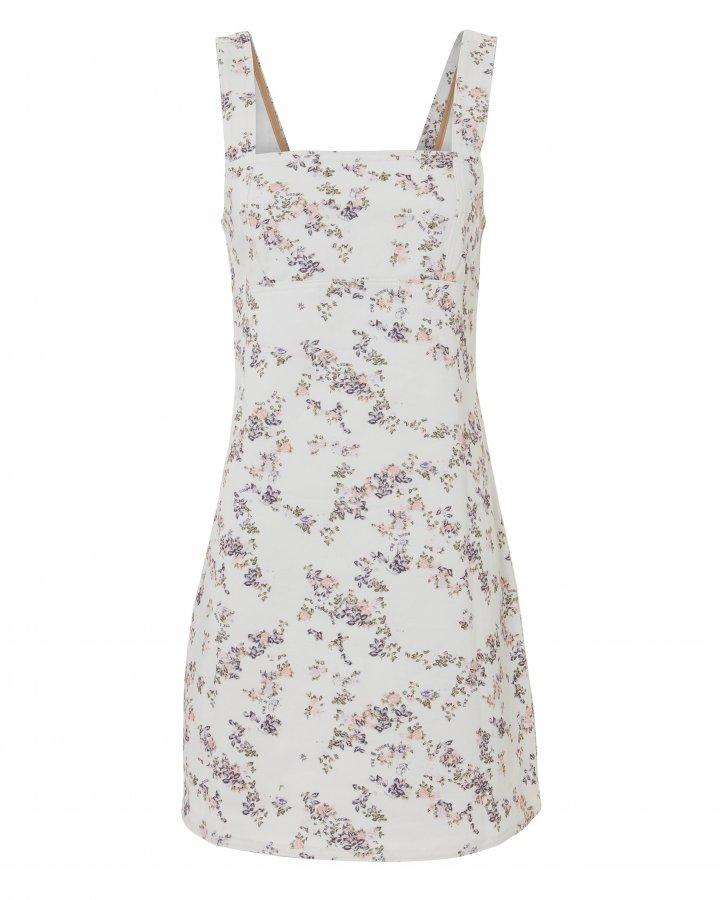 Floral Denim Mini Dress