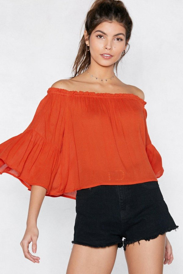 Be Dramatic Off-the-Shoulder Top