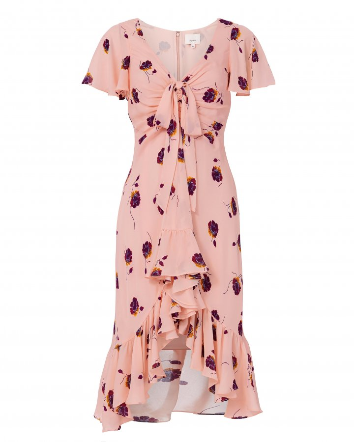 Mateo Silk Floral-Print Dress