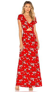 Zahara Floral Maxi Dress                                             About Us