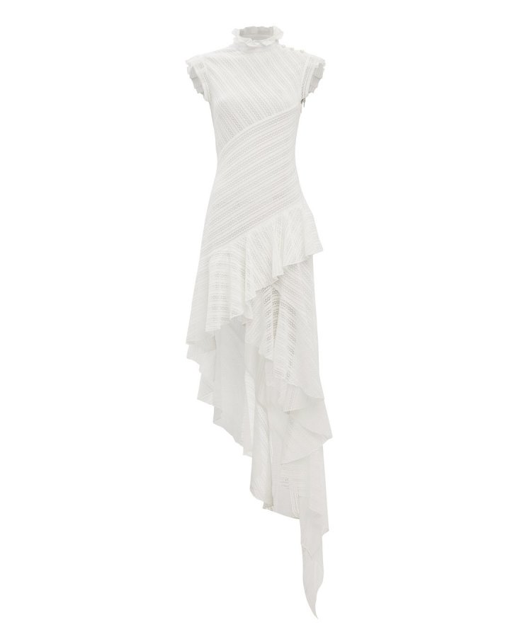 Eyelet High-Low Dress
