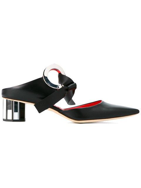 Proenza Schouler Grommet Block Heel Mule - Farfetch