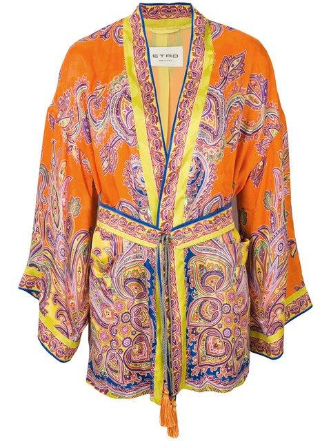 Etro Paisley Print Kimono Jacket - Farfetch