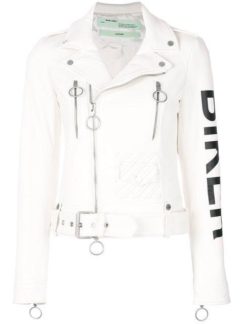 Off-White Biker Print Jacket - Farfetch