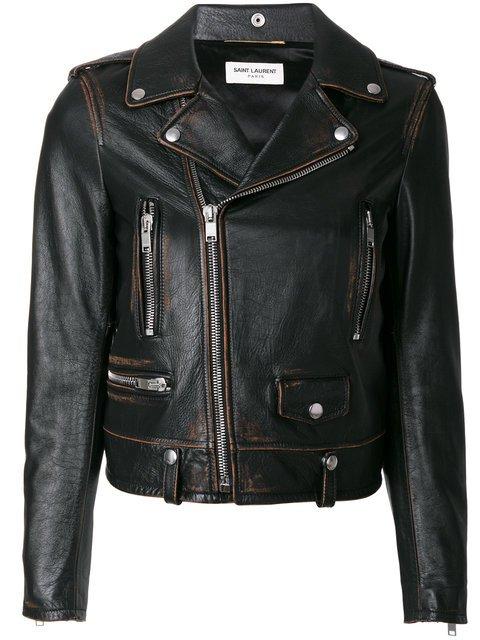 Saint Laurent Classic Bouche Motorcycle Jacket - Farfetch