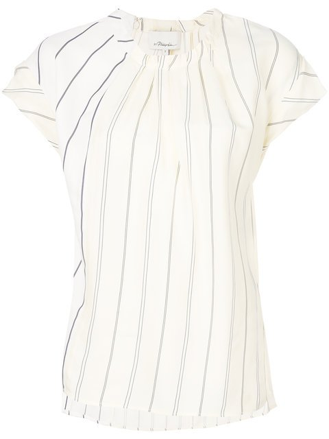 3.1 Phillip Lim Striped Short-sleeved Top - Farfetch
