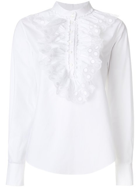Chloé Ruched Crochet Blouse - Farfetch