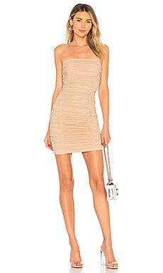Ivanna Ruched Sheer Strapless Dress                                             by the way.