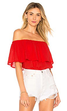Gauze Off Shoulder Top                                             Bobi