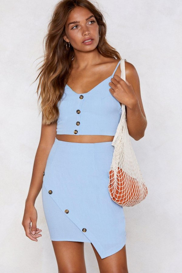 Stay With Me Crop Top and Skirt Set