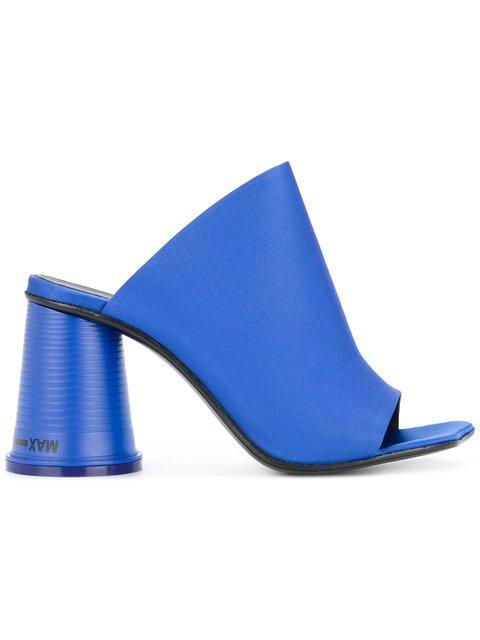 Mm6 Maison Margiela Block Heel Mule Sandals - Farfetch