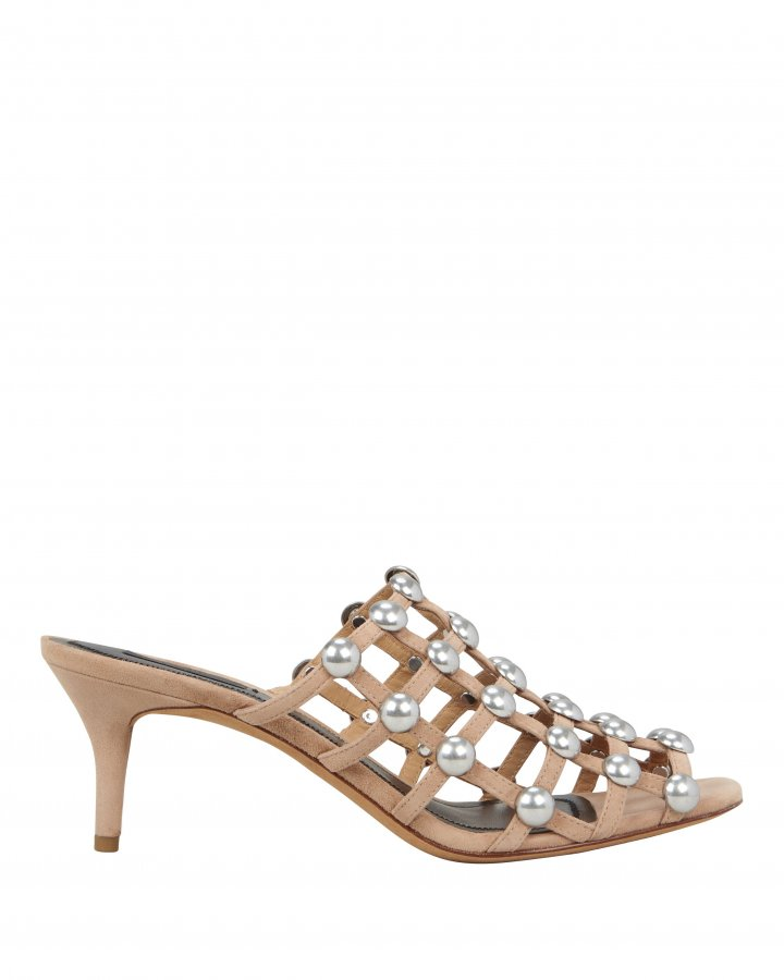 Sofia Low Heel Cage Sandals