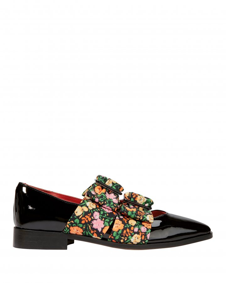 Maya Floral Flat Loafers