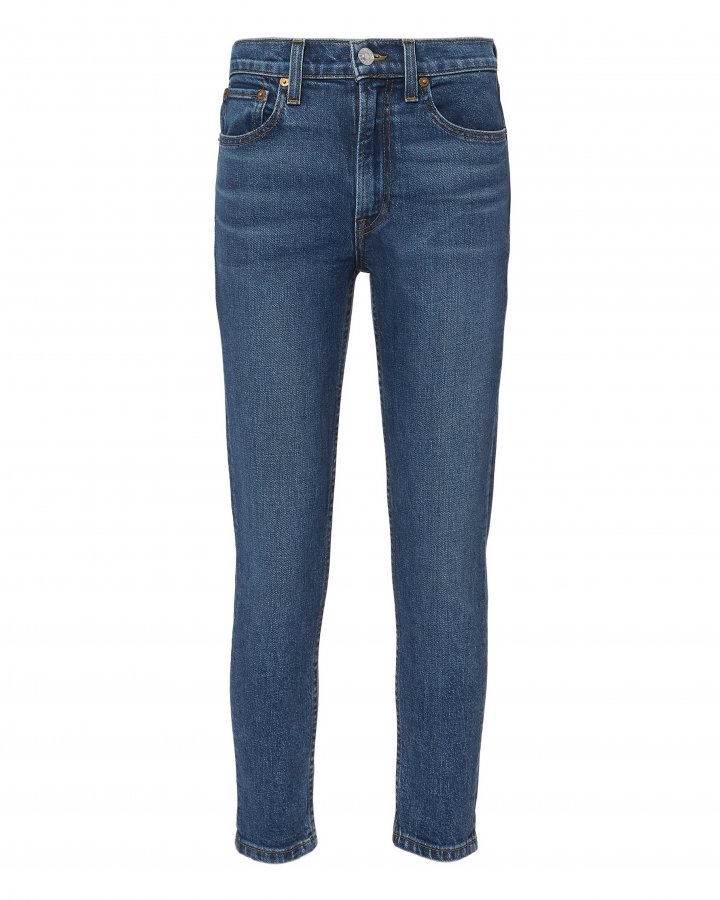 Comfort Stretch High-Rise Ankle Crop Jeans