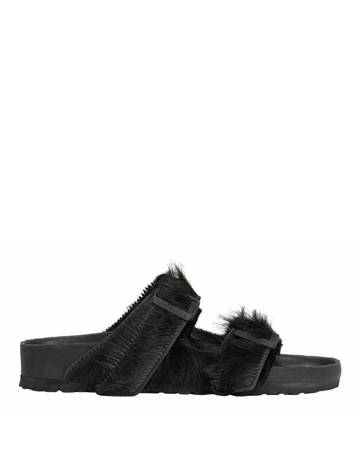 Arizona Double Buckle Black Sandals