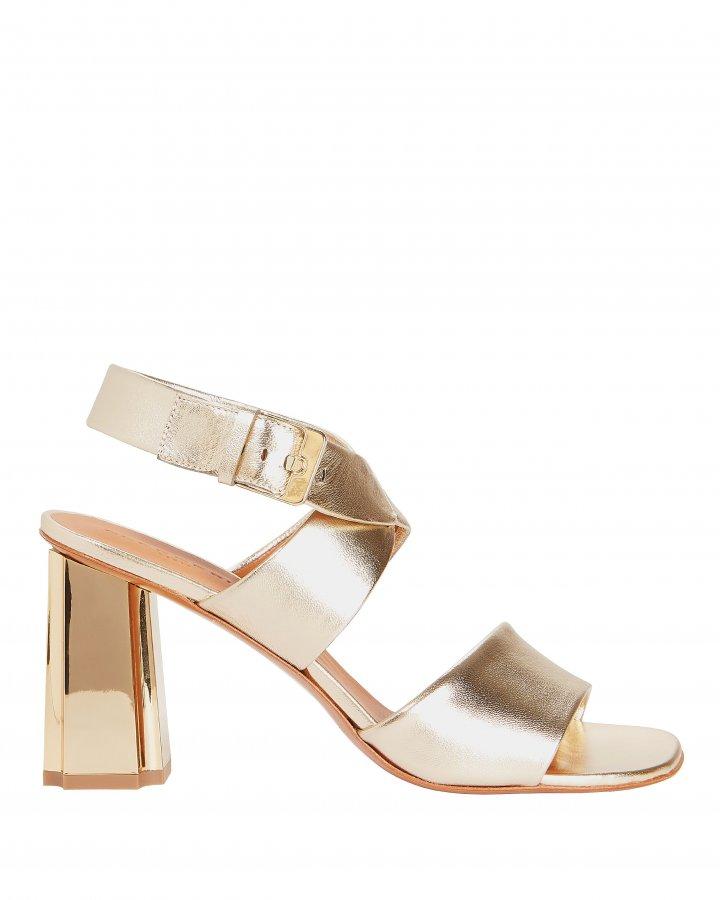Zora Metallic Sandals