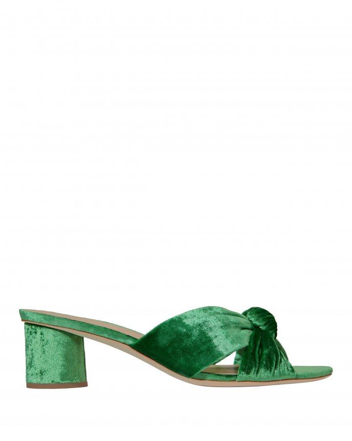 Celeste Emerald Green Slide Sandals