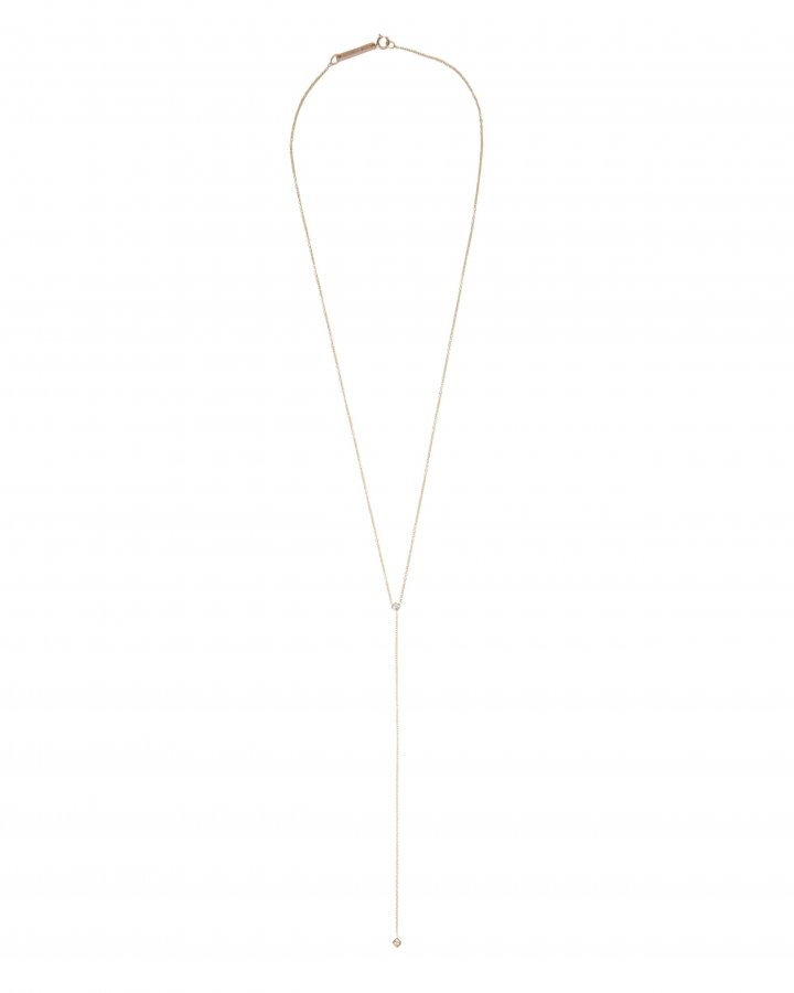 Princess Diamond Lariat Necklace