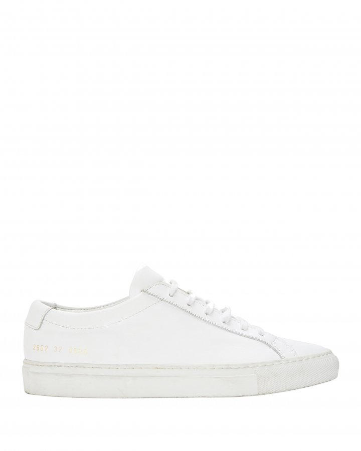 Achilles White Leather Sneakers