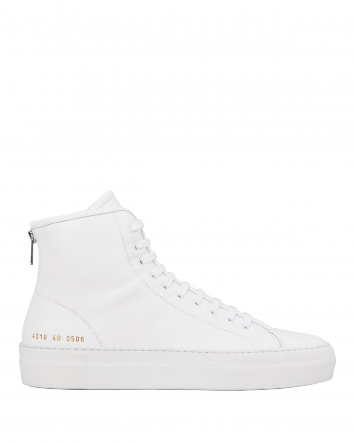 Tournament High-Top White Sneakers