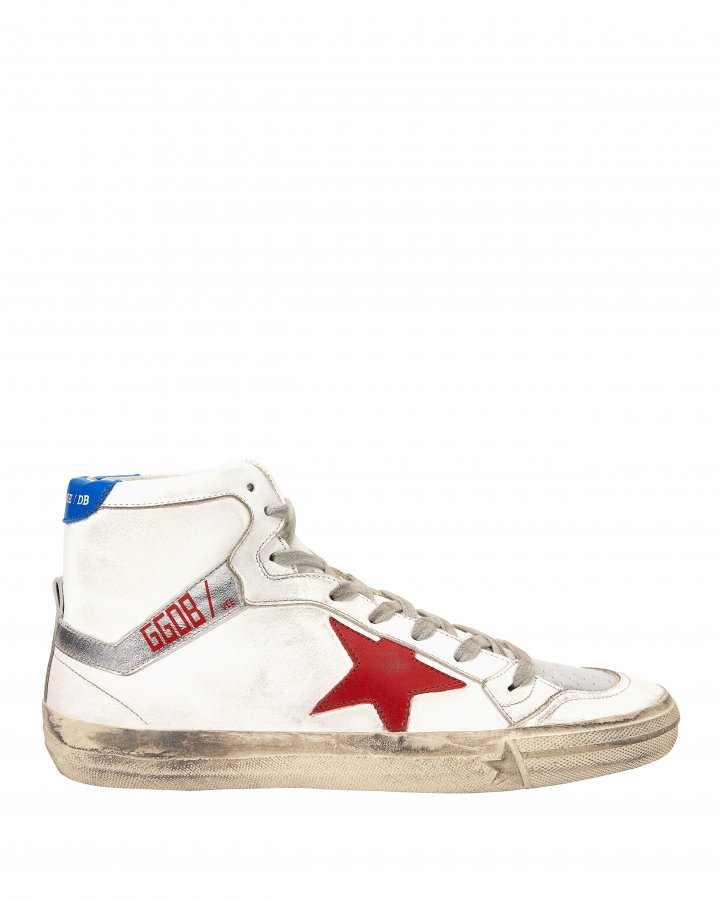 2.12 Hi Top Red Star Leather Sneakers