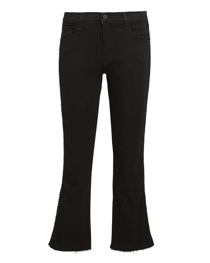 Selena Cropped Black Jeans