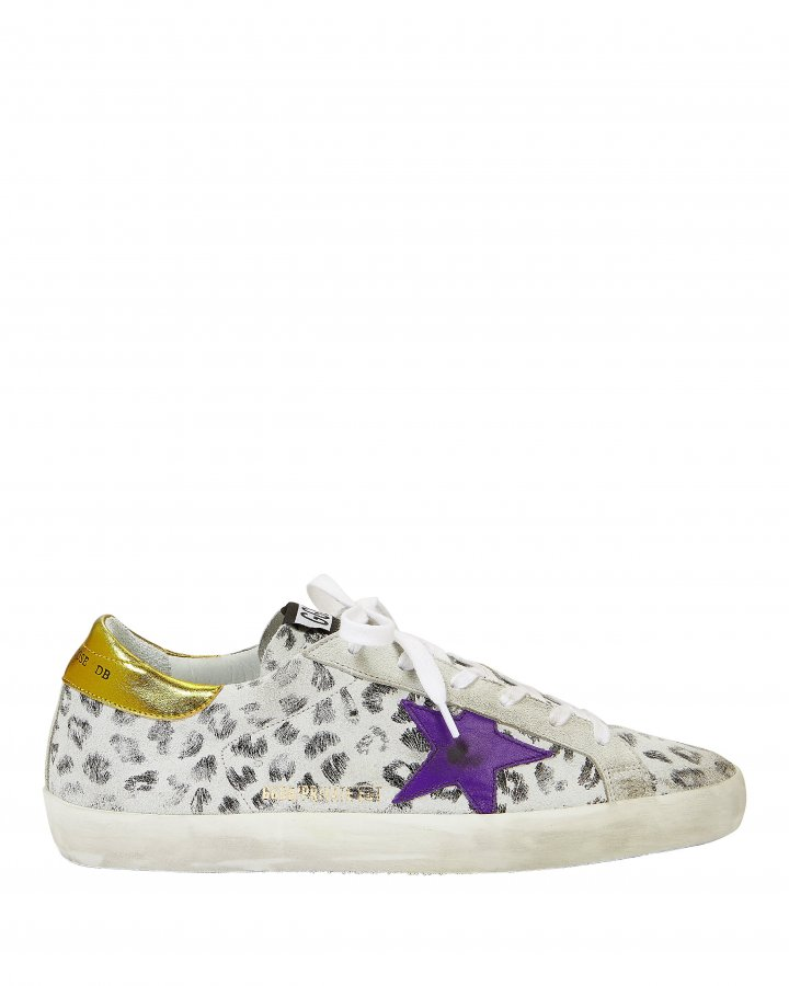 Superstar White Leopard Sneakers