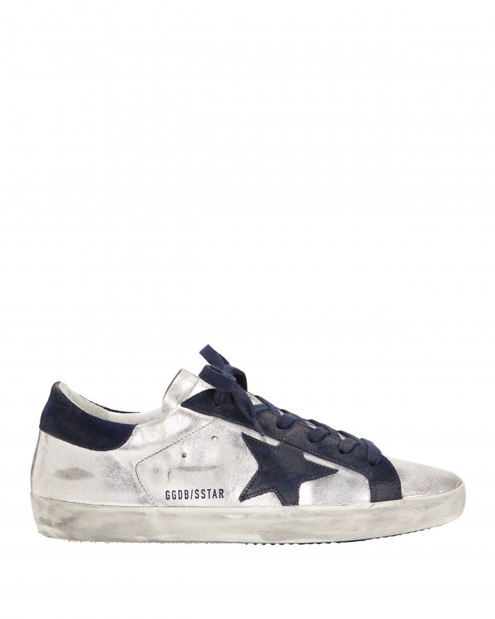 Superstar Navy Star Silver Sneakers