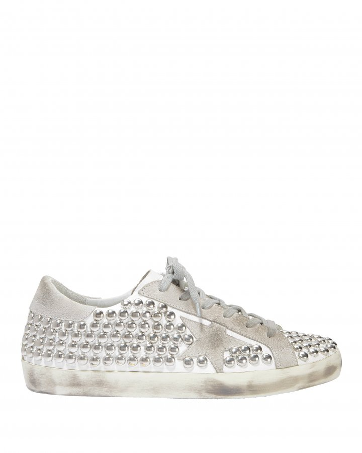 Superstar Silver Studded Low-Top Sneakers
