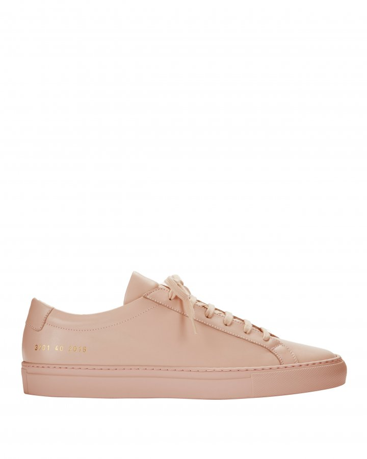 Achilles Pink Leather Sneakers