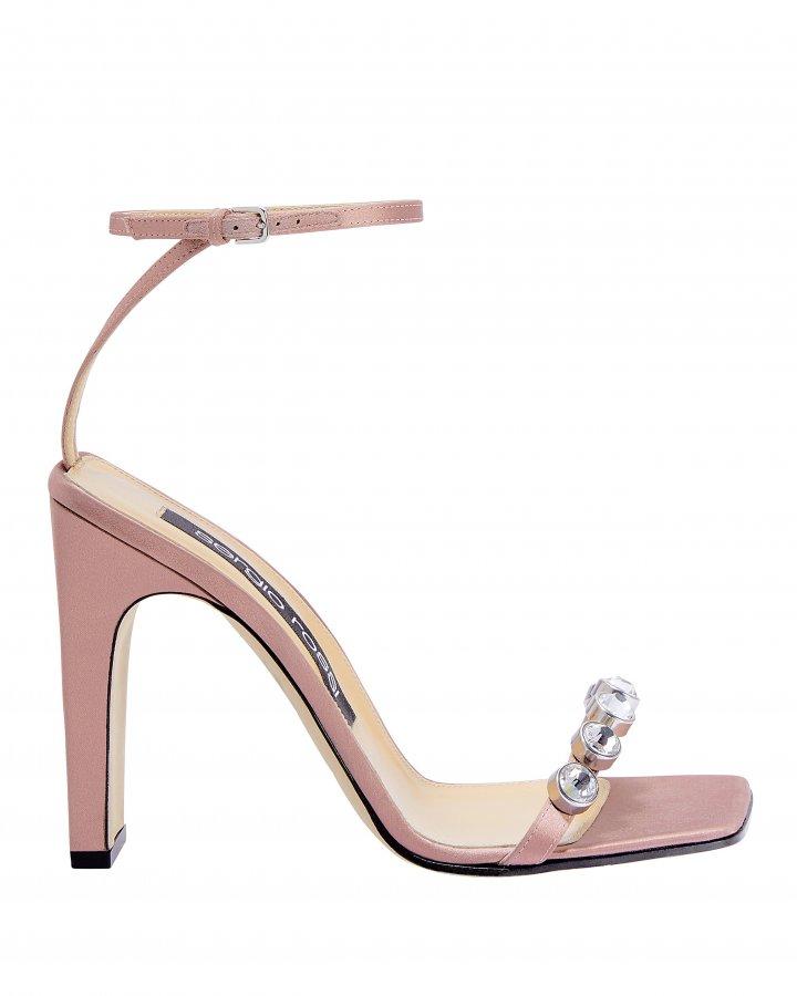 Crystal Toe Blush High Sandals
