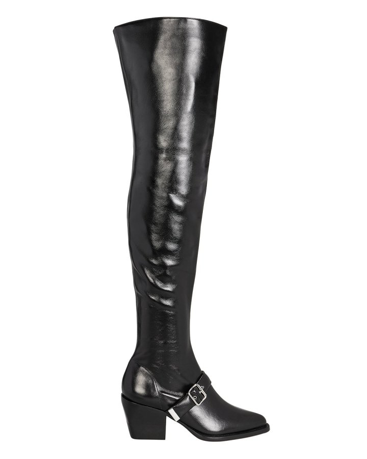 Ankle Buckle Over-The-Knee Boots