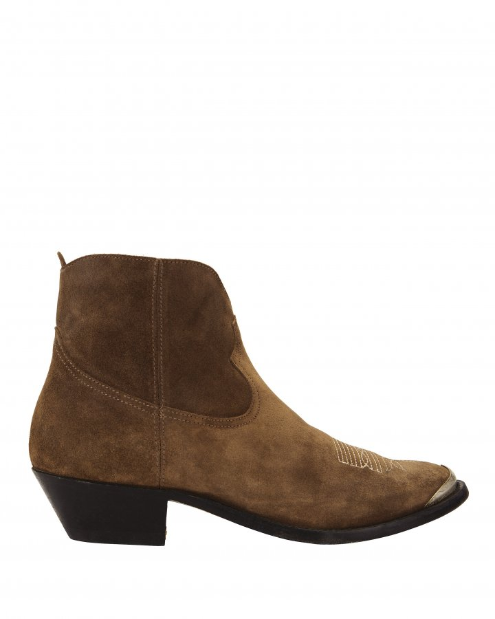 Young Western Suede Booties