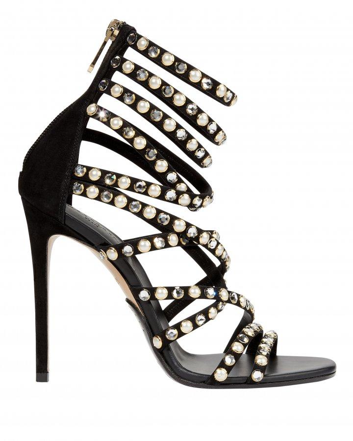 Diva-Embellished High Sandals