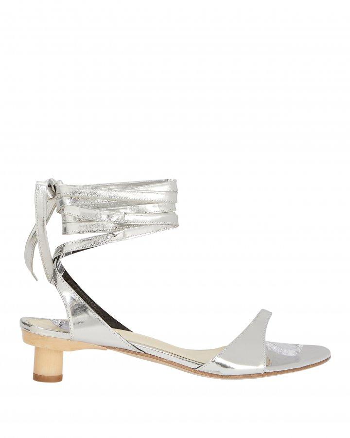 Scott Metallic Wrap Sandals