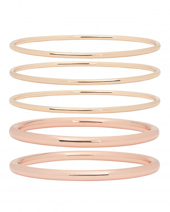 Modern Mixed Bangle Set