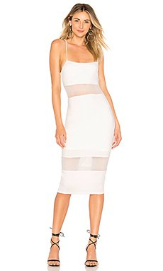 Naomi Mesh Cut Out Midi Dress                                             by the way.