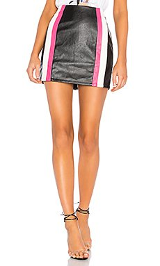 Fatima Striped Moto Skirt                                             by the way.