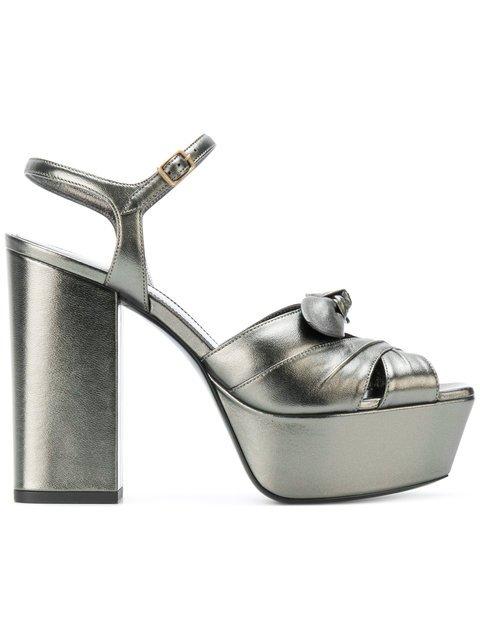 Saint Laurent Farrah Bow Sandals - Farfetch