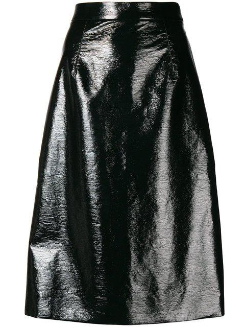 Mantu Mid-length Wet Look Skirt - Farfetch