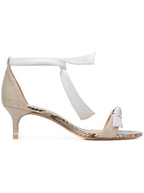 Alexandre Birman Kitten Heel Tie Strap Sandals - Farfetch