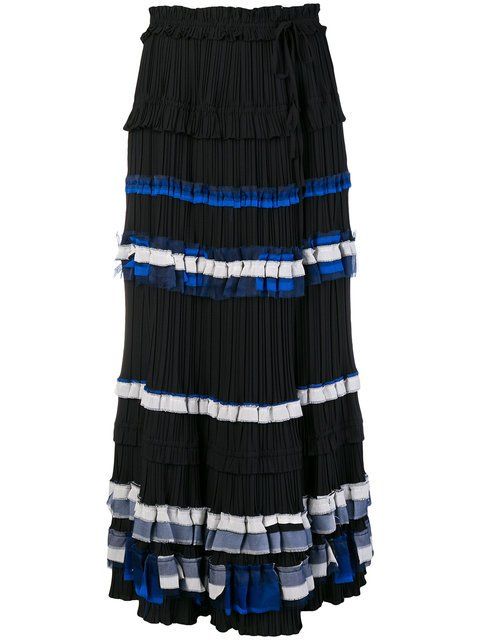 3.1 Phillip Lim Striped Full Skirt  - Farfetch