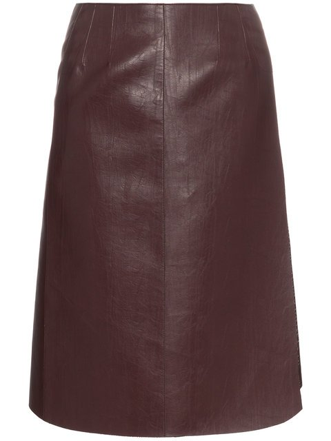 We11done High Waisted Faux Leather Wrap Skirt - Farfetch