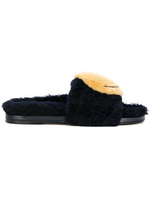Anya Hindmarch Smiley Slip-on Sandals - Farfetch