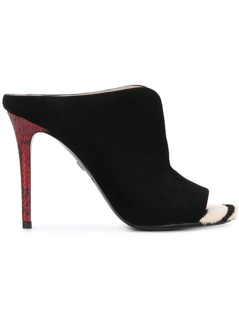 Roberto Cavalli Peep Toe Sandals - Farfetch
