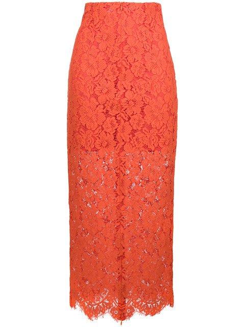 Ganni Layered Lace Skirt - Farfetch