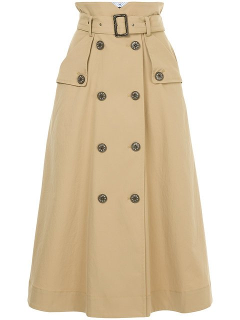 Loveless Belted Flared Midi Skirt - Farfetch
