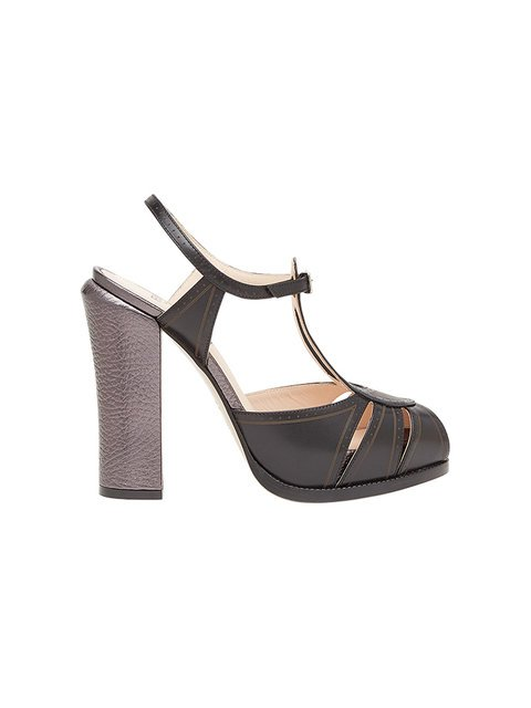 Fendi T-bar Platform Sandals - Farfetch